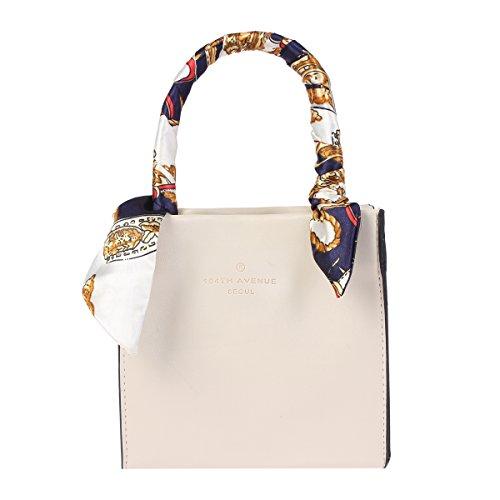 [Damara Womens Sweet Double Handle Mini Tote Bag,Beige] (Double Shoulder Tote)