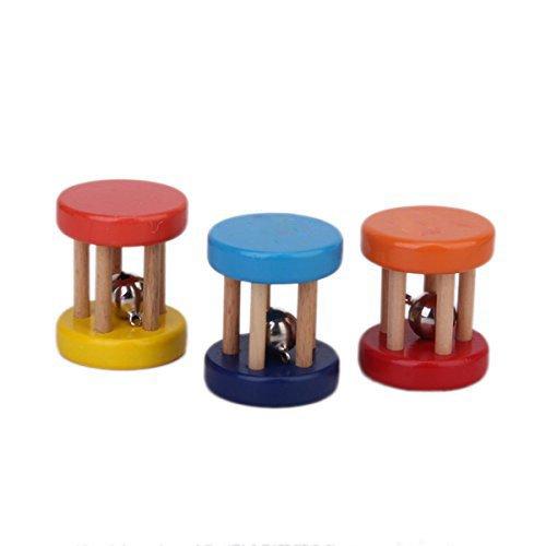 ivebetter Babyrassel Kinder Holz Rassel Glocke Handspiel sch/ütteln Spieluhr zuf/ällige Farbe