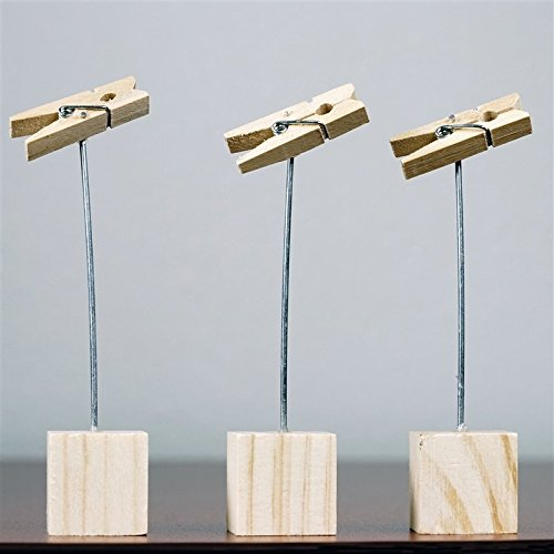 Clothes Pin Placecard Holder - 12/Pk