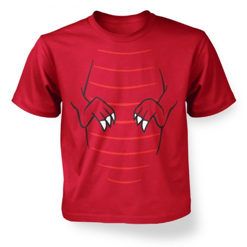 [Raptor Dinosaur Costume Kids T-shirt - Red S (5-6)] (Raptor Costume Jurassic Park)