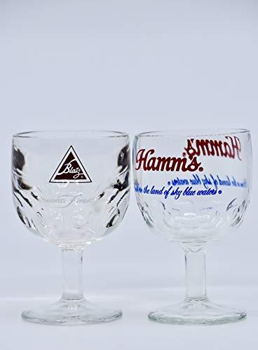 1960's & 70's - Set of 6 Beer Goblets/Mugs - Vintage Blatz/Miller High Life/Falstaff/Hamm's Beer/Schlitz/Pabst Blue Ribbon - Each 16 Ounces - Collectible - Rare