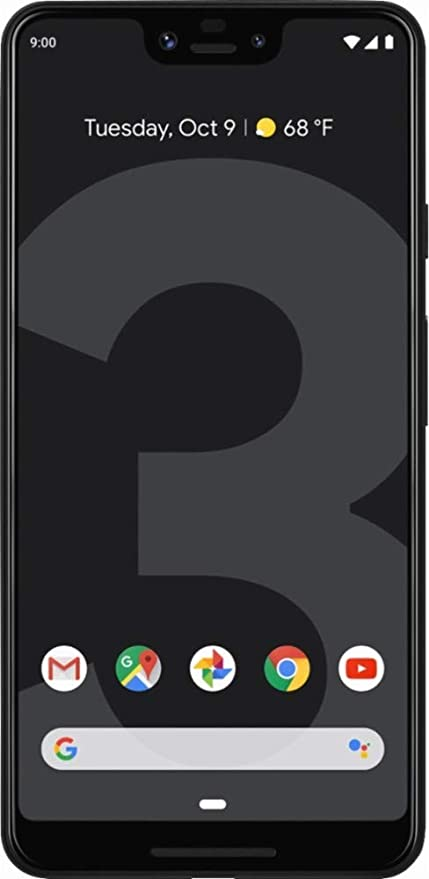 Google - Pixel 3 XL Factory Unlock (Verizon) (Black, 64GB) (Renewed)