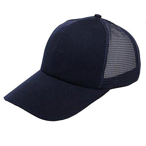 para 1 diseño algodón deportes con ajustable 60CM Marino unisex aire al Gorra libre negro simple TREESTAR de 55 para rejilla de color Azul béisbol pieza de verano espalda aRWOZqw8B