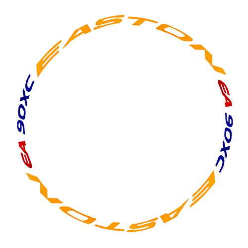 RuiyiF Bike Bicycle Wheel Rims Light Reflective Stickers Decal, Colorful Cycling Wheel Reflective Tape - Yellow + Blue