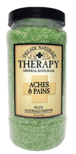 Douleurs Village thérapie Naturals & Mineral Bath Soak Pains 20 oz