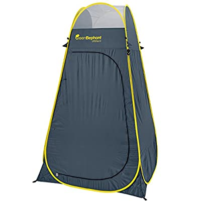 Green Elephant Pop Up Utilitent - Privacy Portable Camping, Biking, Toilet, Shower, Beach and Changing Room Extra Tall, Spacious Tent Shelter.