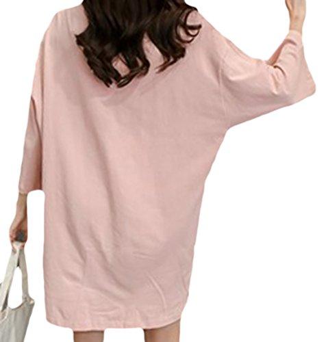 erdbeerloft - Vestido - Camisa - Opaco - para mujer Rosa