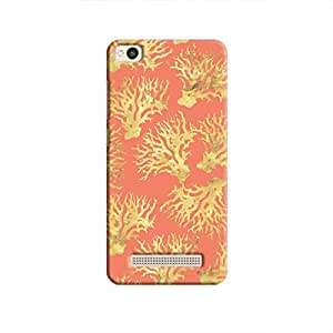 Cover It Up - Red Gold Nature Print Redmi 4A Hard Case
