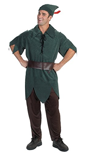 Peter Pan Classic Costume - X-Large - Chest Size 42-46 - Peter Pan Costumes Mens