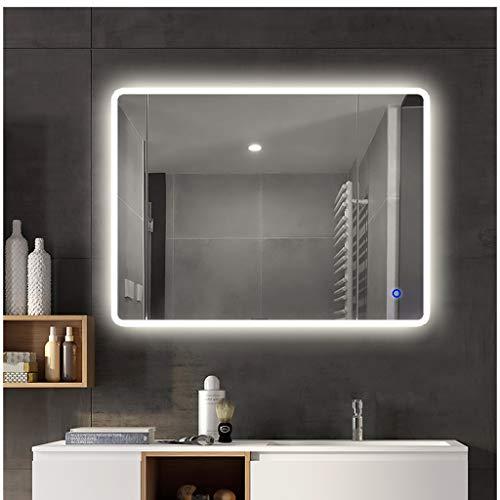 Chunse 750x1000 mm Illuminated LED Bathroom Mirror with Light Vanity Light Sensor -