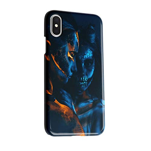 INNOGLEN Two Girls in The Dark, Body Painting, Halloween 3D iPhone X/XS case a285g
