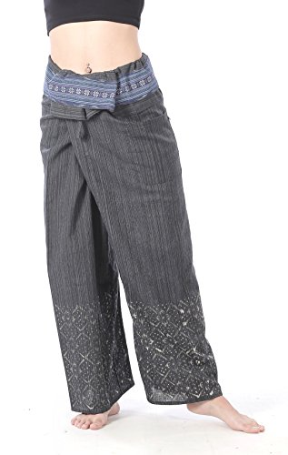 CandyHusky pescador diseño de rayas verticales pantalones de deporte para mujer de algodón con los hombres de camiseta de Yoga pantalones de acampada y pantalón negro