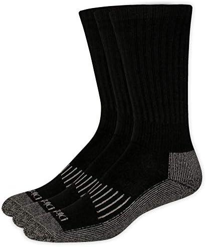 Dickies mens Big and Tall Heavyweight Cushion Compression Work Crew Socks