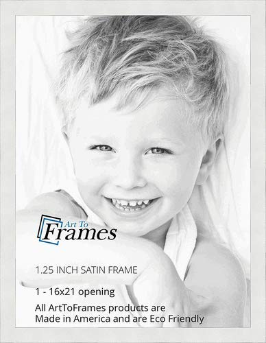 Amazoncom Arttoframes 16x21 Inch Satin White Frame Picture Frame