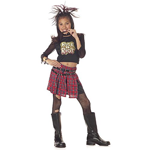 [Child's Rock and Roll Riot Girl Costume (Size: Medium 8-10)] (Rock And Roll Costume For Kids)