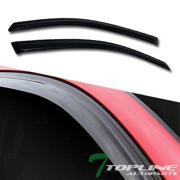 (Topline Autopart Smoke Window Visors Deflector Vent Shade Guard 2 Pieces For 00-07 Ford Focus Zx3 3 Door Hatchback)