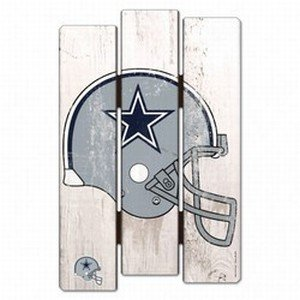 WinCraft NFL Dallas Cowboys Wood Fence Sign, Black ()
