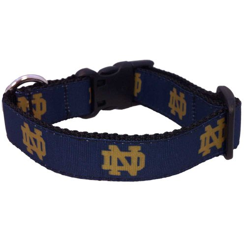 All Star Dogs NCAA Notre Dame Fighting Irish Dog Collar, Medium