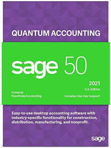 Sage Software Sage 50 Quantum Accounting 2021 U.S. 1-User Accounting Software