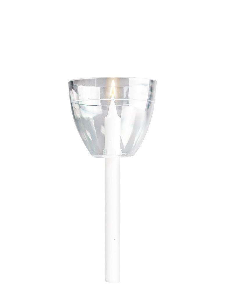 Concordia Supply Clear Shield Drip Protector for Candlelight Service Candles, Church Vigil (Pack of 250)