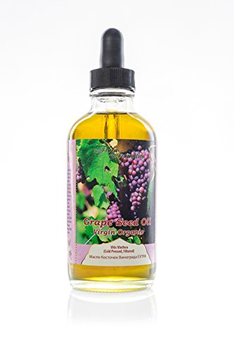 Grape Seed Oil Virgin Organic 4 fl oz/120 ml by Flora Aromatics