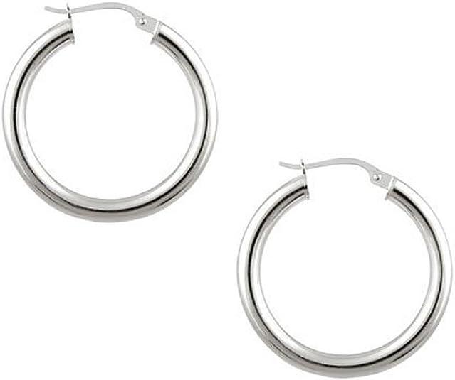925 Sterling Silver Hoop Earrings 25mm,40mm /& 50mm small-medium-large Top Hinged