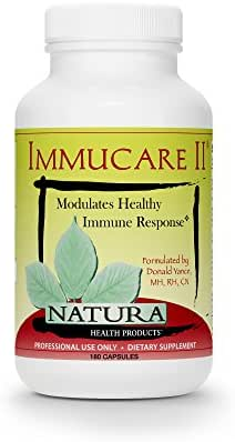 Natura Health Products - Immucare II Immune System Optimizer - Natural Immune Support Formula with Coriolus, Reishi, Poria cocos and Chaga Mushroom Extracts for Detoxification Activity - 180 Capsules