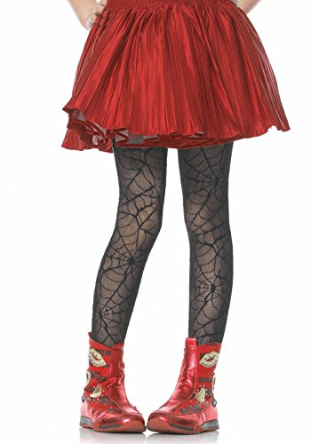 Leg Avenue's Children's Spiderweb Tights, Black, Small/ Medium