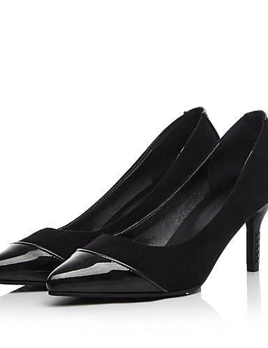 GGX/Damen Schuhe Fleece Sommer/spitz Toe Heels Büro & Karriere/Casual Stiletto Heel Split Gemeinsame Schwarz/Pink pink-us8 / eu39 / uk6 / cn39