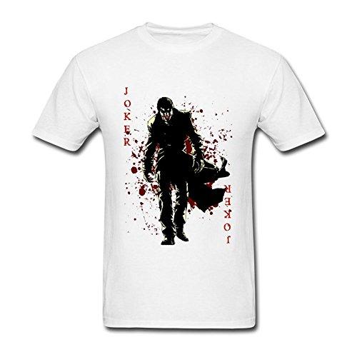 suoling Men's Joker Card T Shirt White S
