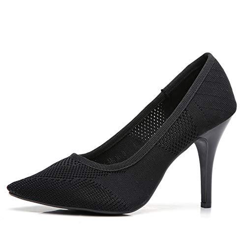 Yukun Schuhe mit hohen Absätzen High Heels Herbst Frauen High Heels Fashion Flying Weaver Weiblich Spitze Stiletto Damenschuhe
