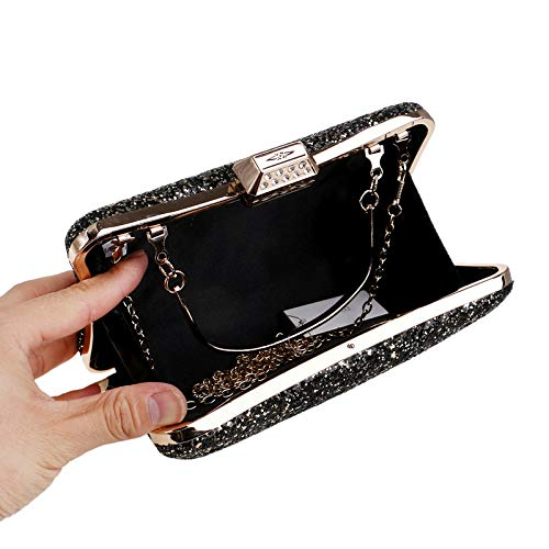 Ladies Bag Black Evening Hand GROSSARTIG Bag Dress Sequin Evening Banquet pTgxqRP