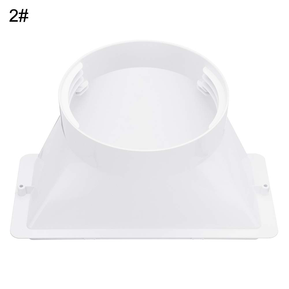 GMNP0di/% Portable Air Conditioner Window Adapter 5//6inch Exhaust Hose//Tube Connector Rectangular Interface Ventilation Pipe Interface air Hood Baffle Plate Mobile air Conditioning Accessories 3#