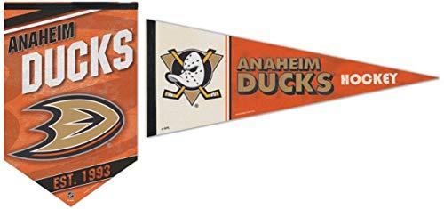 WinCraft Bundle 2 Items: NHL Anaheim Ducks 1 Premium Felt Banner 17