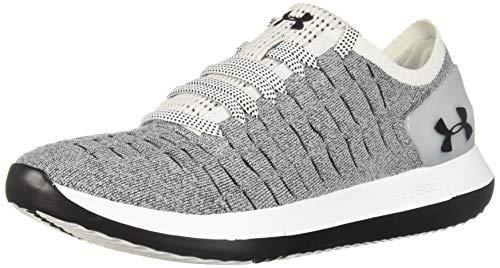 Under Armour Women's Slingride 2 Sneaker, White (105)/Black, 8.5