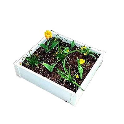 Handy Bed 2 x 2 Stack-able, White, Vinyl, Raised Garden Bed : Garden & Outdoor