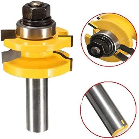 Router Bit Set Router Bits Wood Working Tool RB19 3pcs 1/2 Inch Shank Router Bit Set Milling Cutter Tool