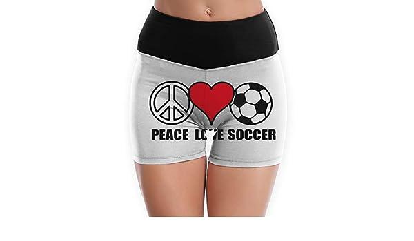 Mens Peace Love Soccer Jogger Shorts Active Short
