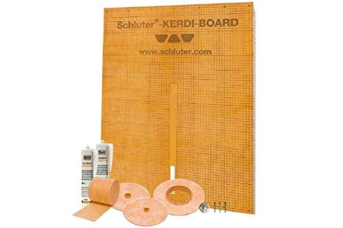 Schluter Systems Kerdi Board Waterproof Shower Kit, Model KBKIT (Best Tile Backer For Shower Walls)