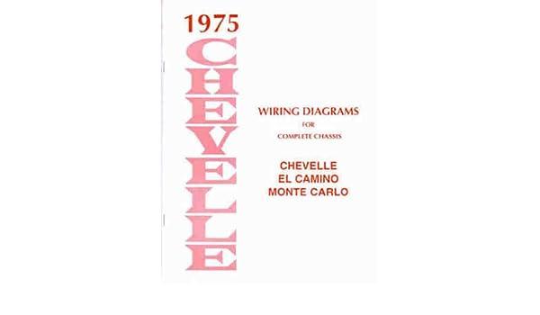 1975 wiring diagram manual reprint chevelle el camino monte carlo paperback  – 1975