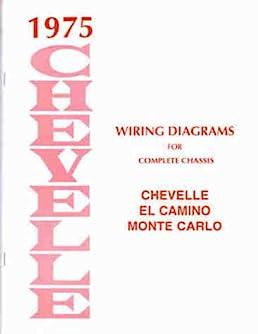 1975 wiring diagram manual reprint chevelle el camino monte carlo rh amazon com 86 Monte Carlo Wiring Diagram Monte Carlo Fan Wiring Diagram