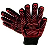 Ultra-Premium Black Extreme Heat Resistant Gloves, EN407 Grill Master Grade Cooking Gloves Great for BBQ, Fireplace Use, Grilling, Cooking, Baking, Smoking, Potholder and Oven Gloves by More