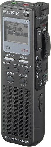 Sony Memory Stick Media Digital Voice Recorder with 128MB MS Duo and Adaptor (ICD-BM1)