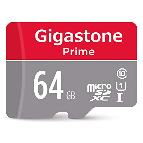 Gigastone 64GB Micro SD Card UHS-I U1 Class 10 MicroSD XC Memory Card with SD Adapter High Speed Memory Card Class 10 UHS-I Full HD Video Nintendo Switch Dashcam GoPro Camera Samsung Canon Nikon Drone