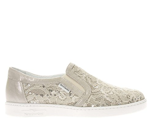 Donna P805080D Slip Giardini in Sneaker on macram 412 Nero E5qwRX