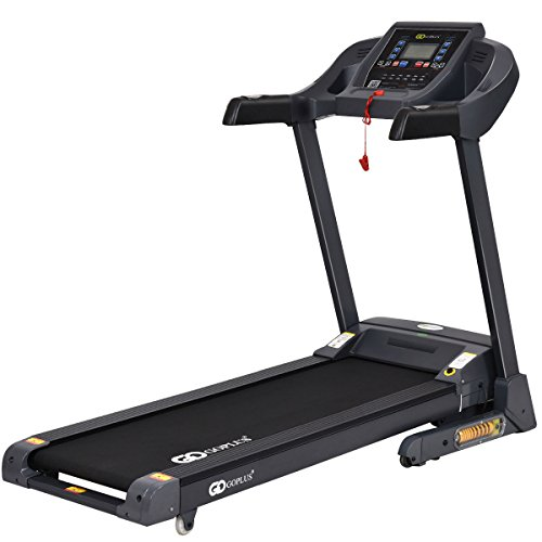 Goplus 2.5HP Folding Treadmill Electric Support Motorized Power Running Fitness Jogging Incline Machine W/ APP Control & Shock-Absorption System (New Model)