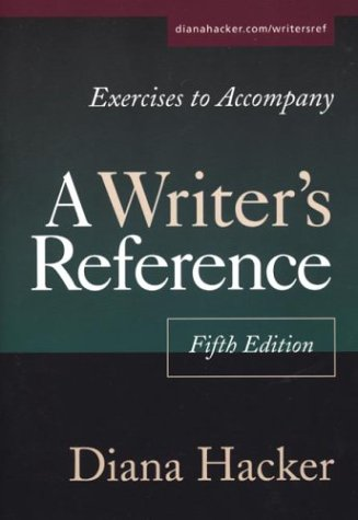 Exercises to Accompany A Writer's Reference: Compact Trim Size