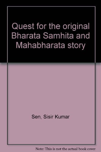 Cover of Quest for the Original Bharata Samhita and Mahabharata Story