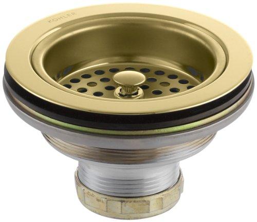 KOHLER K-8799-PB Duostrainer Sink Strainer, Vibrant Polished (Brass Sink Strainer)