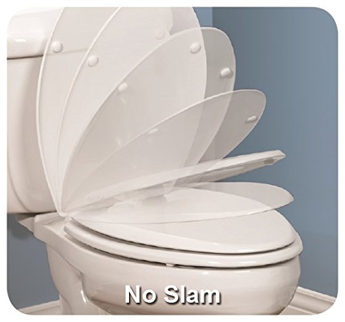 non slam toilet seat. Mayfair 120SLOWE 000 Slow Close Plastic Toilet Seat featuring  Whisper Easy Clean Change Hinges and STA TITE Fastening System Elongated